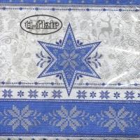 Servietten 24x24 cm - Hivernale blue