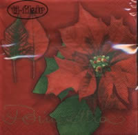 Servietten 25x25 cm - Poinsettia red
