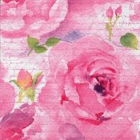 Servietten 25x25 cm - Rosa Delicada rosa