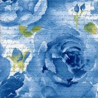 Servietten 25x25 cm - Rosa Delicada blau