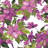 Servietten 25x25 cm - Blühende Klematis rosa