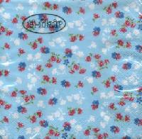 Servietten 24x24 cm - Millefleurs light blue