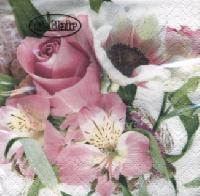 Servietten 24x24 cm - Fleurs Délicates
