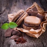 Servietten 24x24 cm - Macaroons & Chocolate