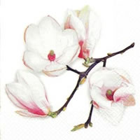 Cocktail Servietten White Magnolia white