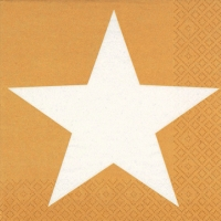 Servietten 24x24 cm - Bright Star gold