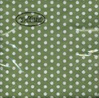 Servietten 24x24 cm - Bolas green