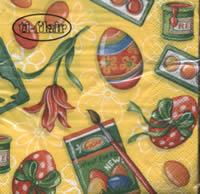 Servietten 25x25 cm - Farben für Eier gelb