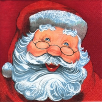 Servietten 33x33 cm - Father Christmas red