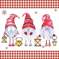 Servietten 33x33 cm - Scandinavian Gnomes
