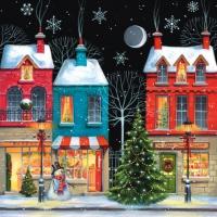 Lunch Servietten Coloured Christmas Shops