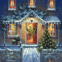 Servietten 33x33 cm - Welcome Home at Christmas