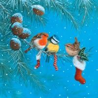 Lunch Servietten Tree Birds on Branch