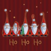 Lunch Servietten Santas singing Ho Ho Ho