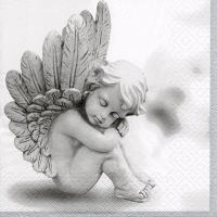 Servietten 33x33 cm - Dreaming Angel grey