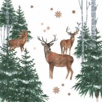 Servietten 33x33 cm - En Forêt d´Hiver