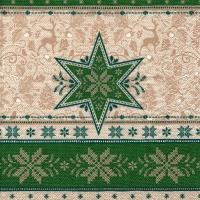 Servietten 33x33 cm - Hivernale green