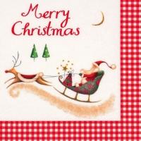 Servietten 33x33 cm - Merry Christmas with Santa