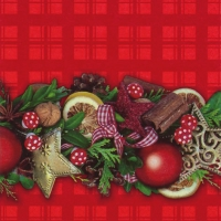 Lunch Servietten Collana di Natale red