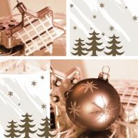 Servietten 33x33 cm - Prettige Kerstdagen gold
