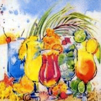 Servietten 33x33 cm - Summer Cocktails