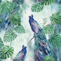 Servietten 33x33 cm - Peacock Paradise