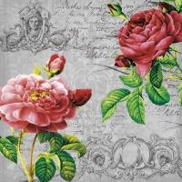 Servietten 33x33 cm - Deux Rosen Classique schwarz