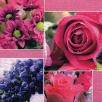 Servietten 33x33 cm - Composition de Fleurs