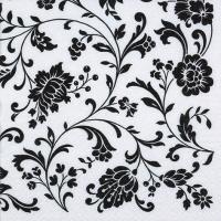 Servietten 33x33 cm - Arabesque White white-black