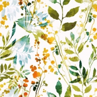 Servietten 33x33 cm - Boho Leaves & Herbs multi
