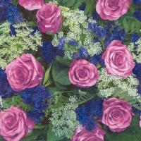 Servietten 33x33 cm - From the Rose Garden