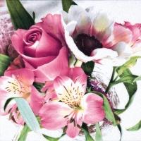 Servietten 33x33 cm - Fleurs Délicates