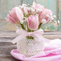 Servietten 33x33 cm - Romantic Bouquet