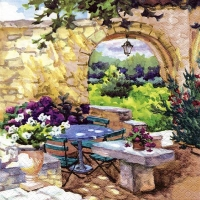 Lunch Servietten Patio Morning in Provence