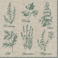 Servietten 33x33 cm - Fragrant Herbs