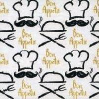 Servietten 33x33 cm - Bon Appetit Souhaite le Cuisinier