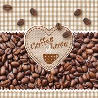 Servietten 33x33 cm - Coffee Love