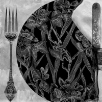 Lunch Servietten Black Dinner Setting