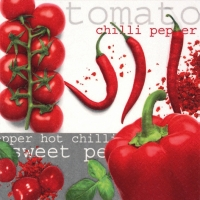 Lunch Servietten Tomato&Chilli&Pepper