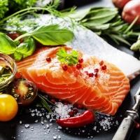 Lunch Servietten Delicious Salmon