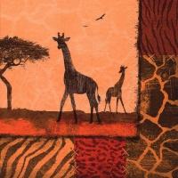 Lunch Servietten Giraffe Collage oxide red
