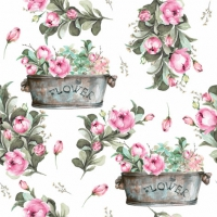 Servietten 33x33 cm - Peony Flower Boxes