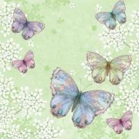 Servietten 33x33 cm - Bellissima Farfalla green