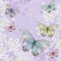 Servietten 33x33 cm - Bellissima Farfalla lilac