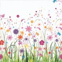 Servietten 33x33 cm - Enchanted Floral Meadow