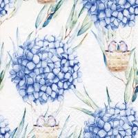 Servietten 33x33 cm - Hydrangea Balloons blue