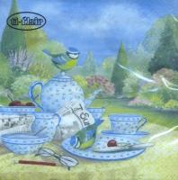 Servietten 33x33 cm - Blaumeisen am Sonntagmorgen-Tisch
