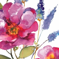 Servietten 33x33 cm - Rosa Grande