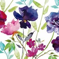 Servietten 33x33 cm - Viola Fiori