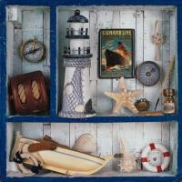 Servietten 33x33 cm - Voyage de Mer